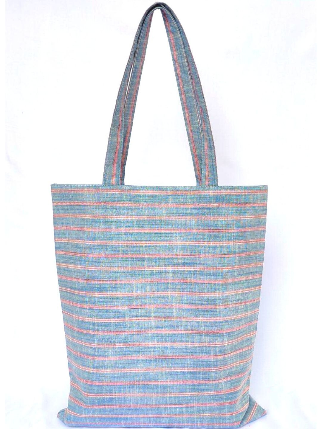 Blue Striped Handbag Bag