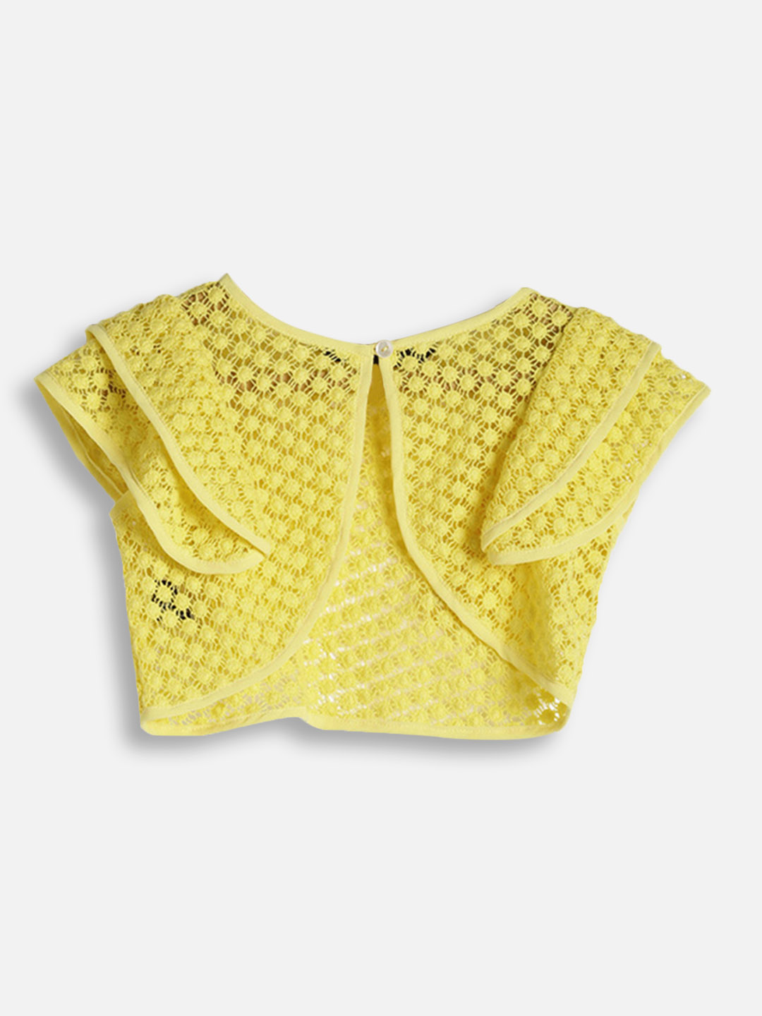 Girls Yellow Knitted Shrug