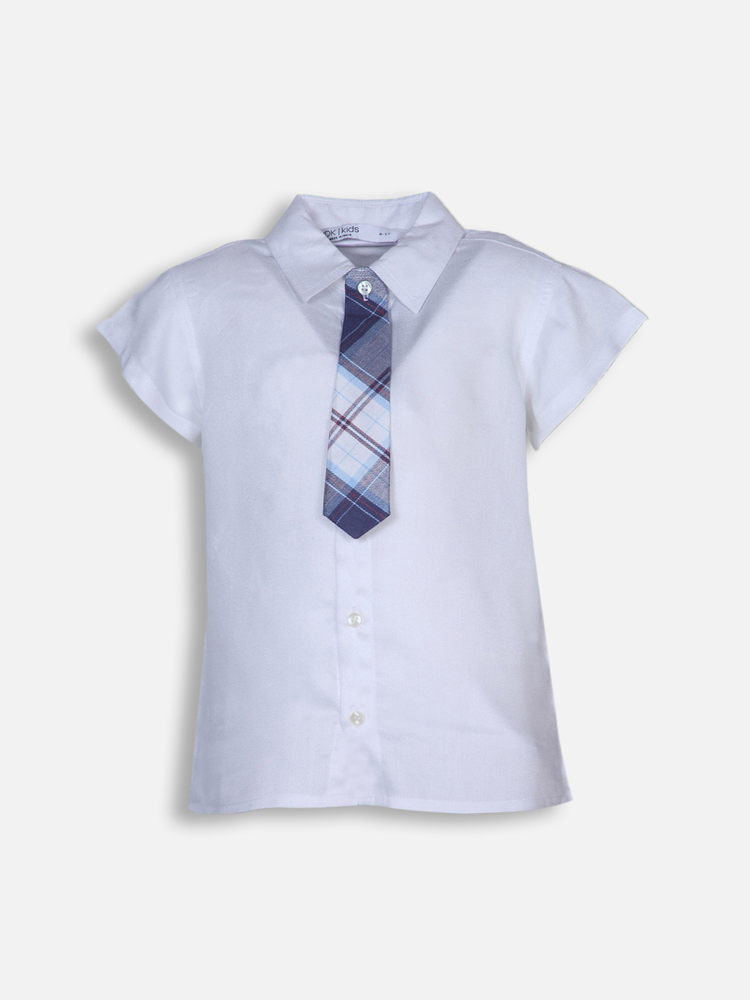 Boys White Shirt With Tie