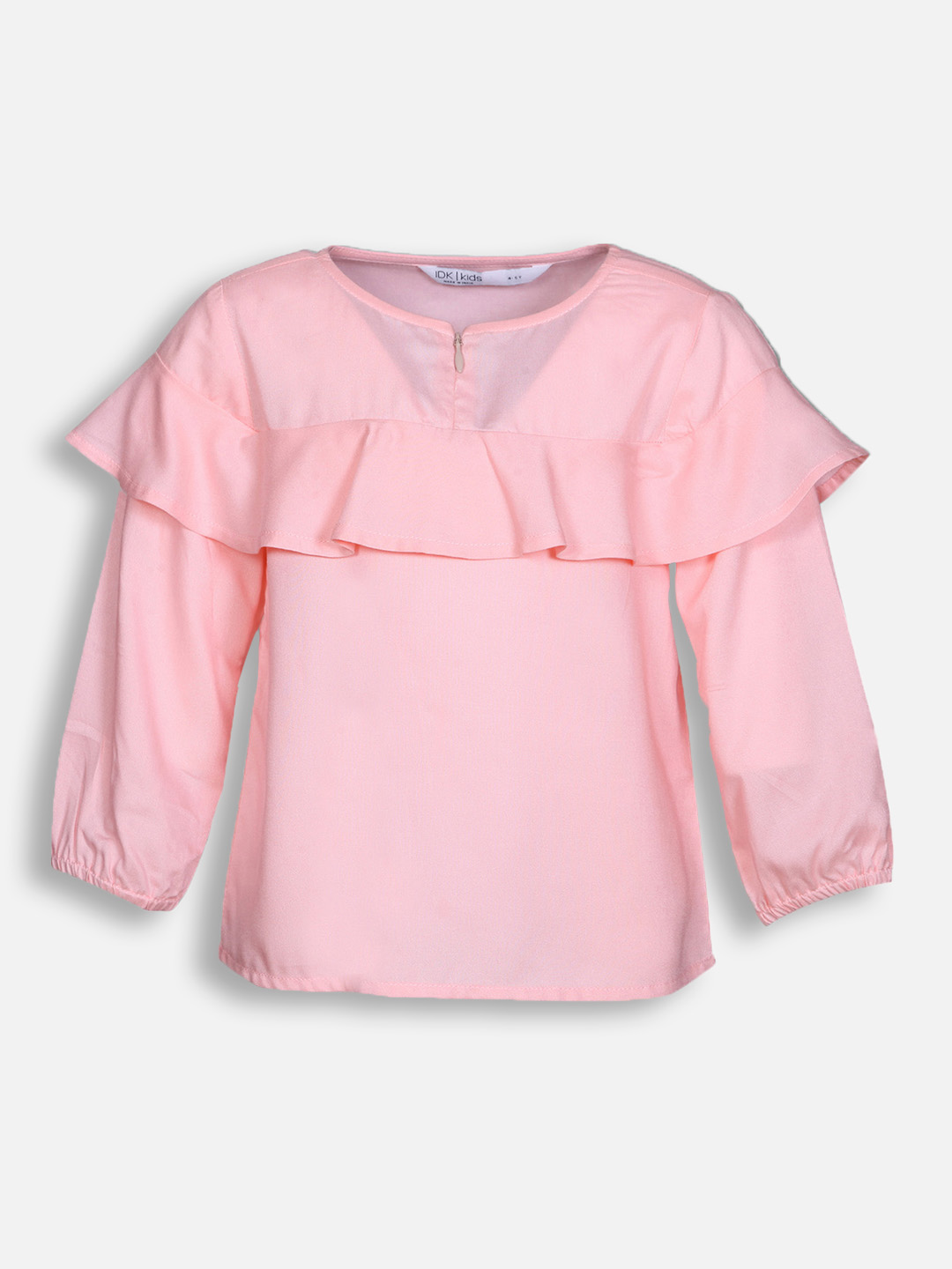 Girls Solid Pink Top