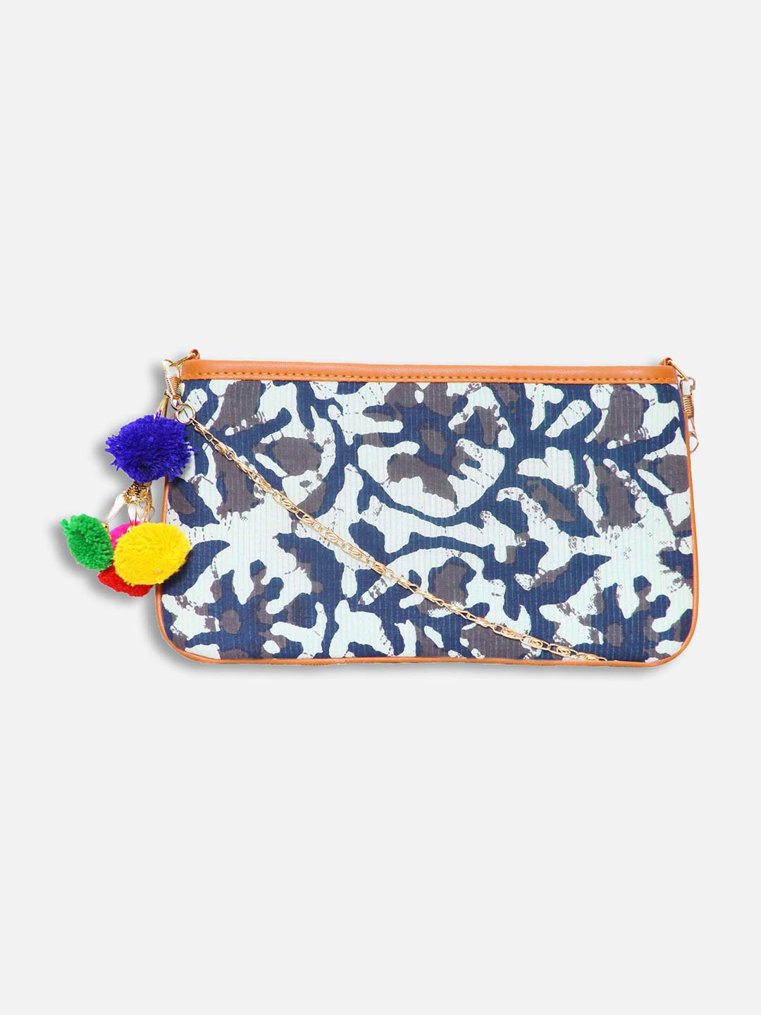 Blue Printed Sling Bag