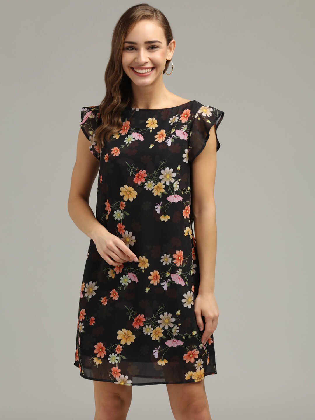 Printed Georgette Dress