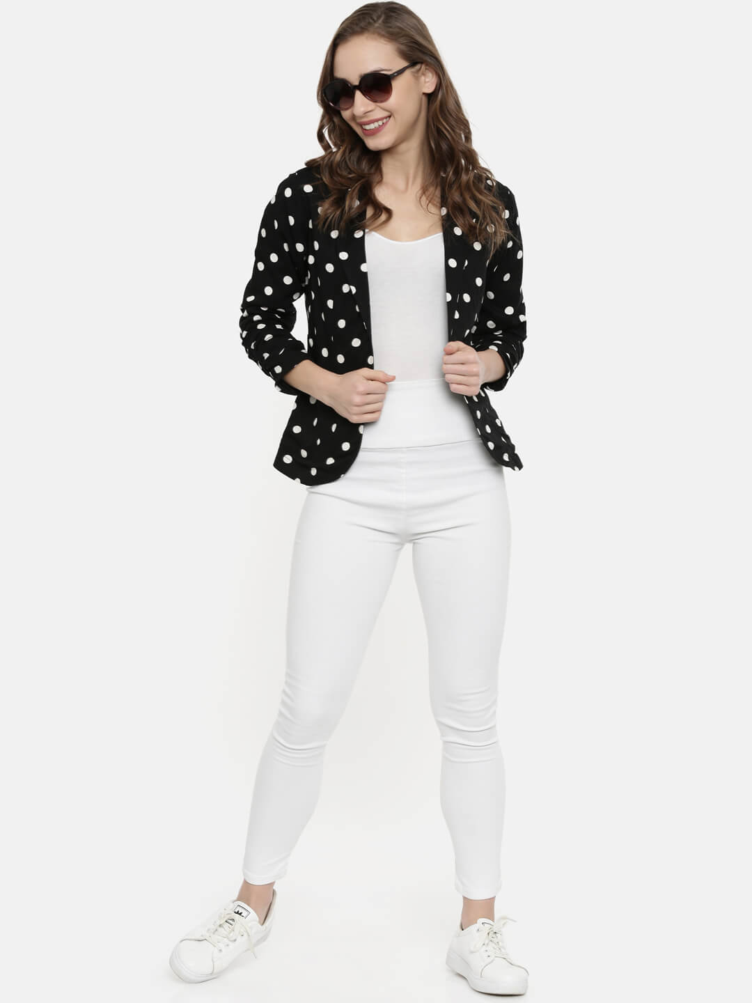 Black & White Polka Dots Jacket