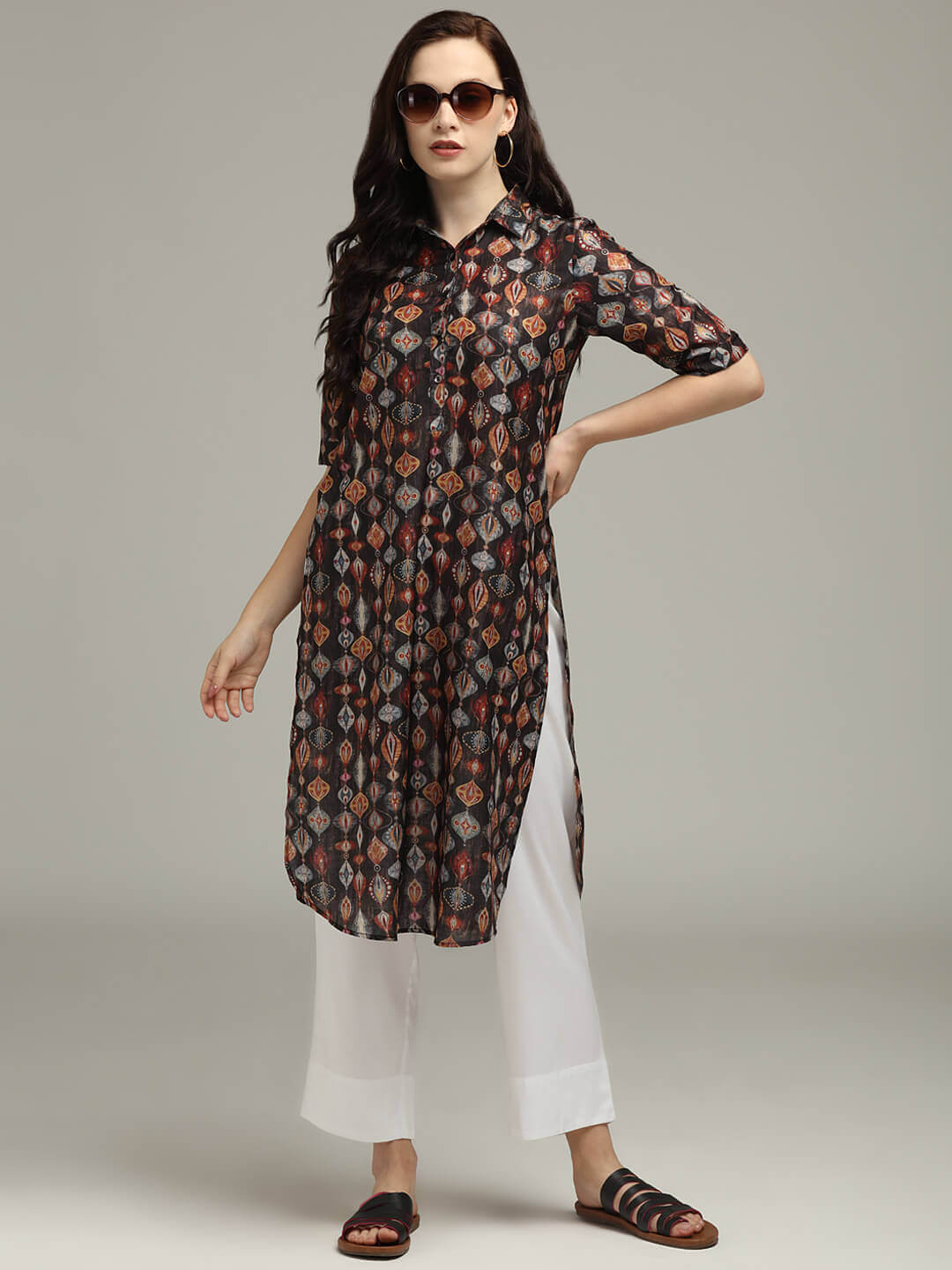 Printed Tunic & Trouser set