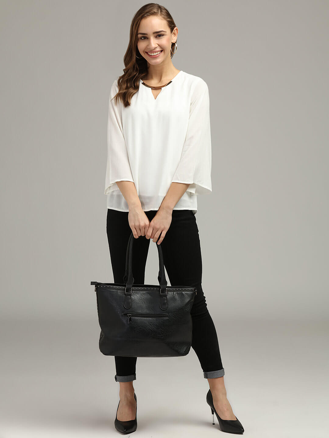 Bell Sleeve Top with lining