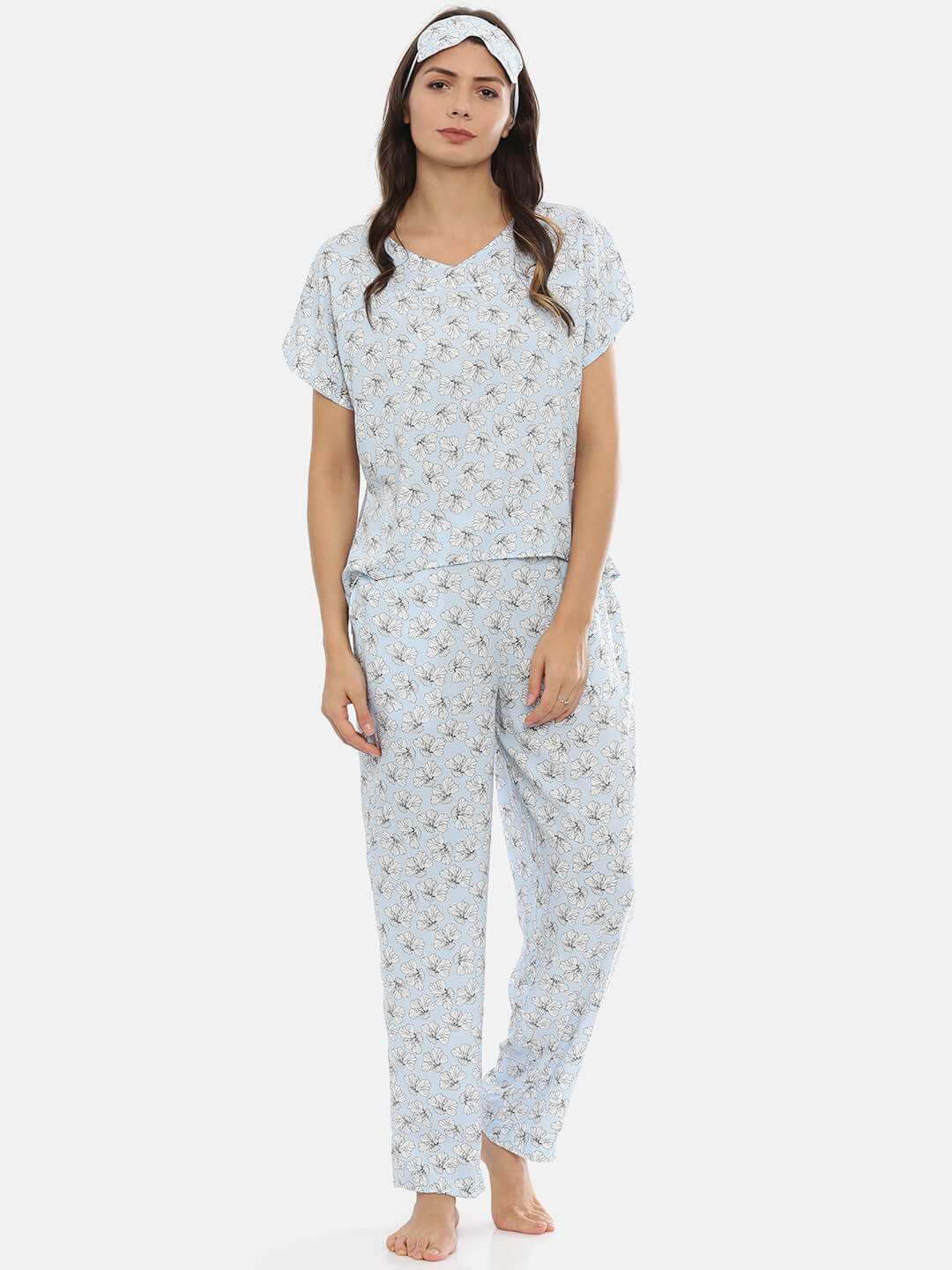 3 Piece Printed Sleepwear