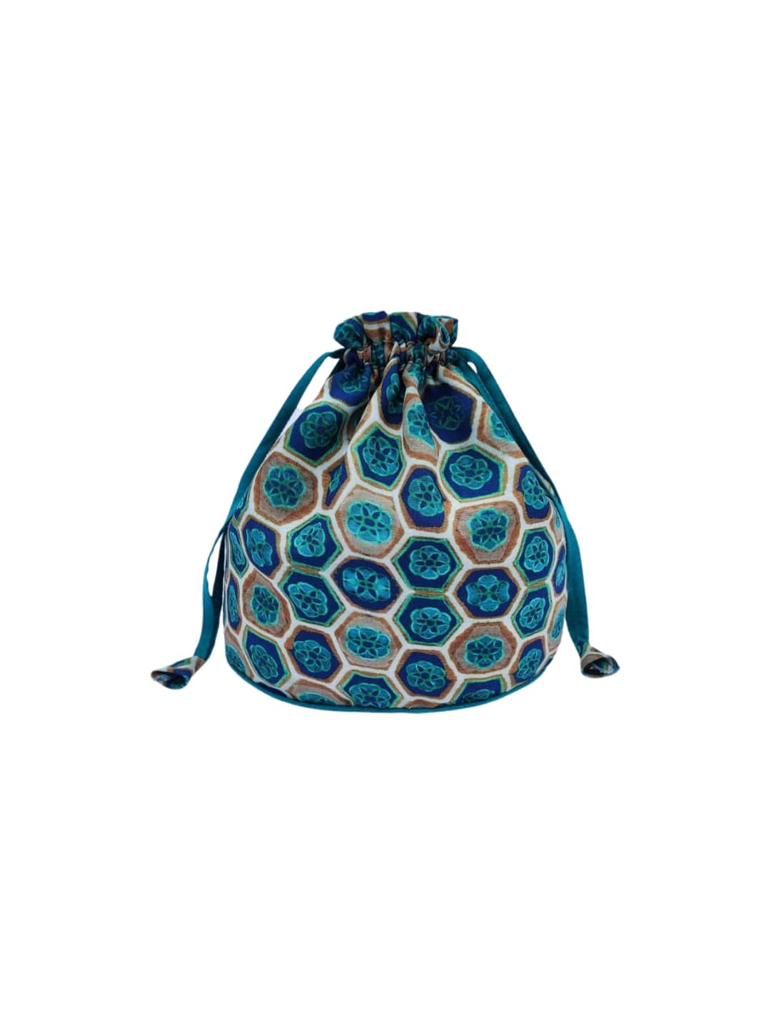 Blue Printed Potli Bag