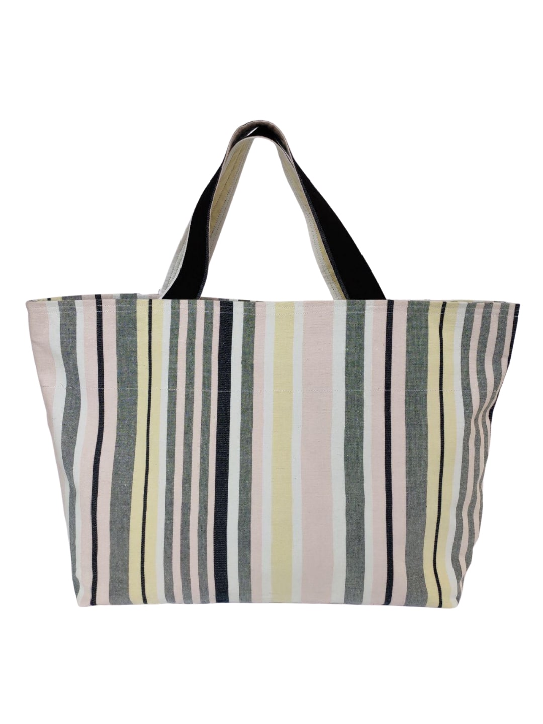 Multi Striped Printed Tote Bag